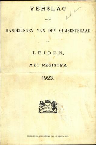 Handelingen van de Raad 1923-01-01