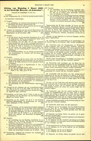 Handelingen van de Raad 1929-03-04