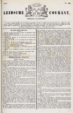 Leydse Courant 1879-08-19