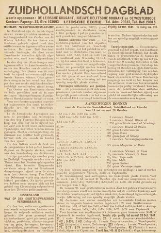 Zuidhollandsch Dagblad 1944-10-13
