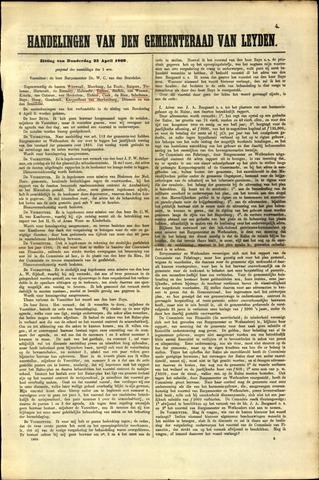 Handelingen van de Raad 1869-04-22