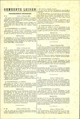Handelingen van de Raad 1945-02-02