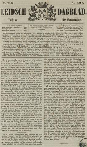 Leidsch Dagblad 1867-09-20