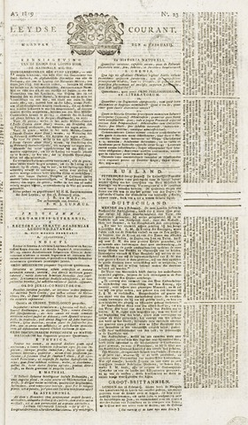 Leydse Courant 1819-02-22