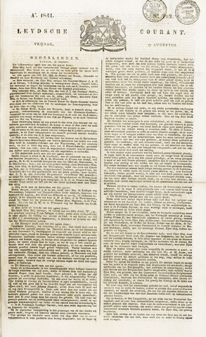 Leydse Courant 1841-08-27
