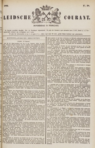 Leydse Courant 1884-02-14