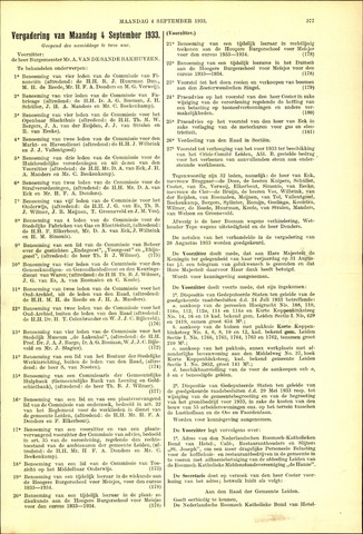 Handelingen van de Raad 1933-09-04