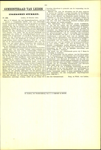 Handelingen van de Raad 1934-10-31