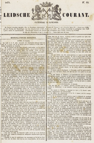 Leydse Courant 1871-01-14