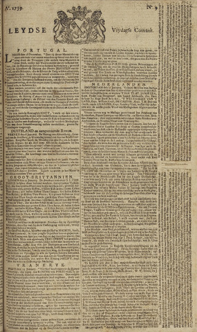 Leydse Courant 1759-01-19