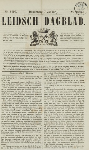 Leidsch Dagblad 1864-01-07