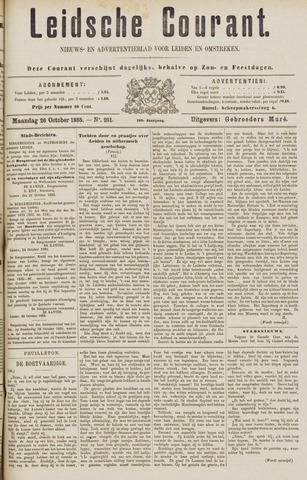 Leydse Courant 1885-10-26
