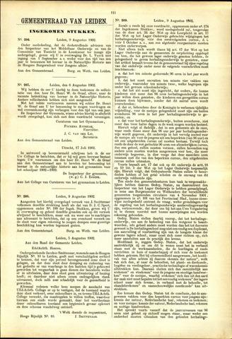 Handelingen van de Raad 1902-08-09