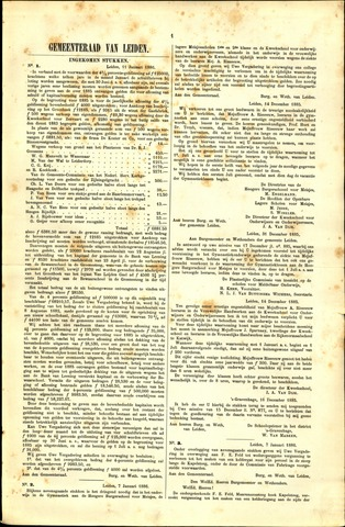 Handelingen van de Raad 1886-01-11