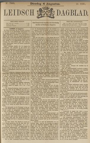 Leidsch Dagblad 1885-08-04