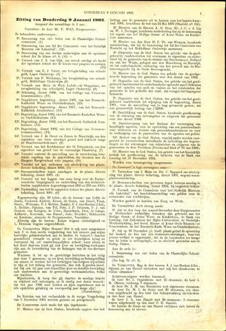 Handelingen van de Raad 1902-01-09