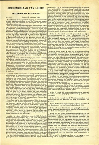 Handelingen van de Raad 1921-12-27