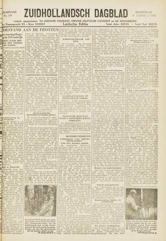Zuidhollandsch Dagblad 1944-08-31