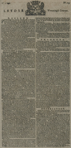 Leydse Courant 1749-01-29