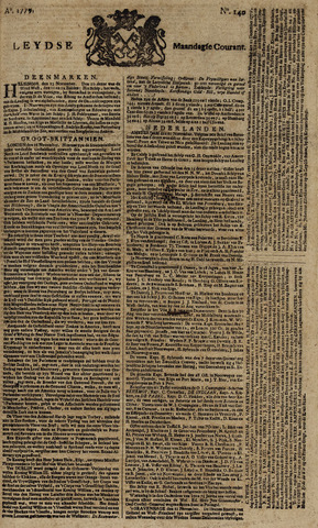 Leydse Courant 1779-11-22