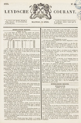 Leydse Courant 1855-04-16
