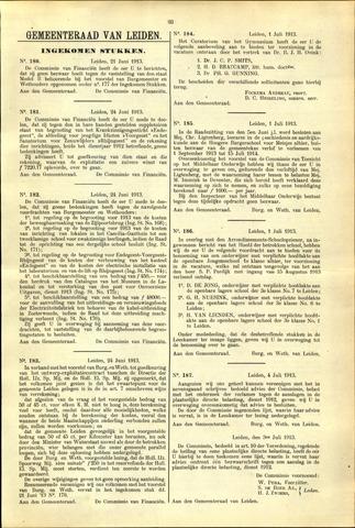 Handelingen van de Raad 1913-06-21