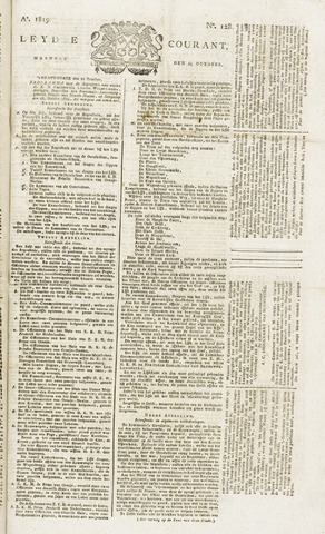 Leydse Courant 1819-10-25