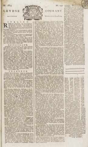 Leydse Courant 1815-11-27