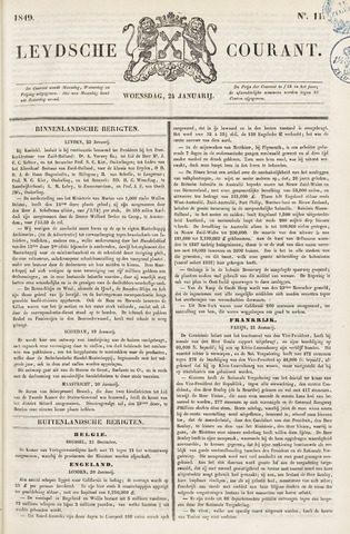 Leydse Courant 1849-01-24