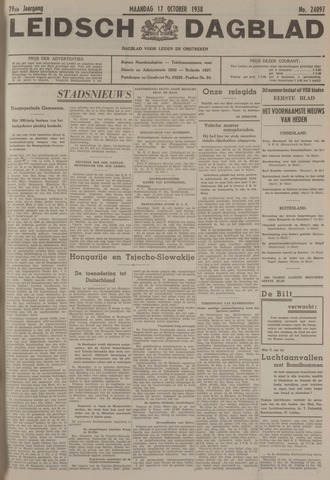Leidsch Dagblad 1938-10-17