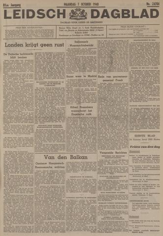 Leidsch Dagblad 1940-10-07