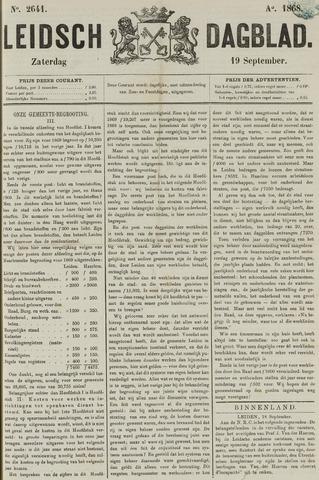 Leidsch Dagblad 1868-09-19