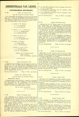 Handelingen van de Raad 1936-01-30