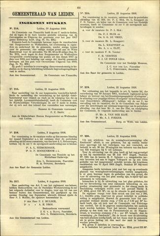 Handelingen van de Raad 1918-08-19