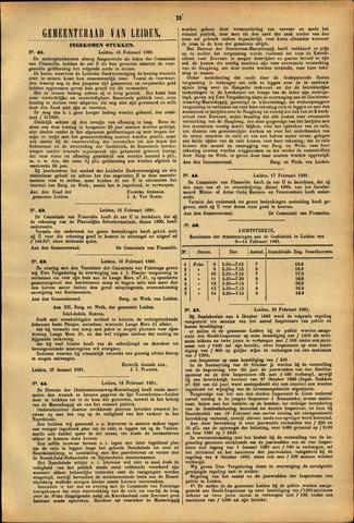 Handelingen van de Raad 1891-02-16