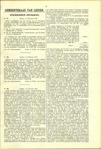 Handelingen van de Raad 1938-02-11
