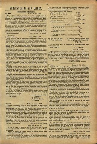 Handelingen van de Raad 1887-07-25