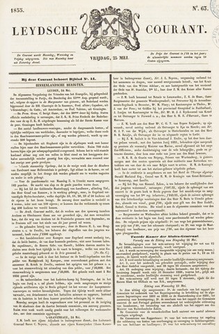 Leydse Courant 1855-05-25