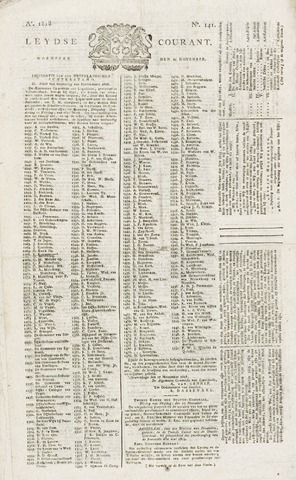 Leydse Courant 1818-11-25