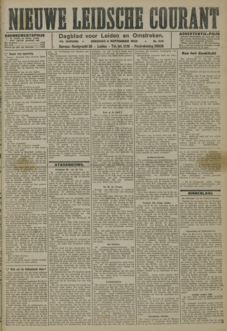 Nieuwe Leidsche Courant 1923-09-04