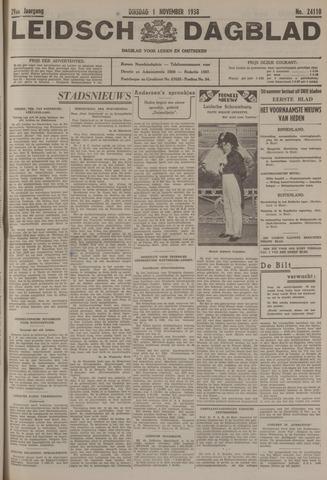 Leidsch Dagblad 1938-11-01
