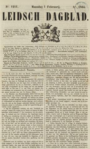 Leidsch Dagblad 1864-02-01