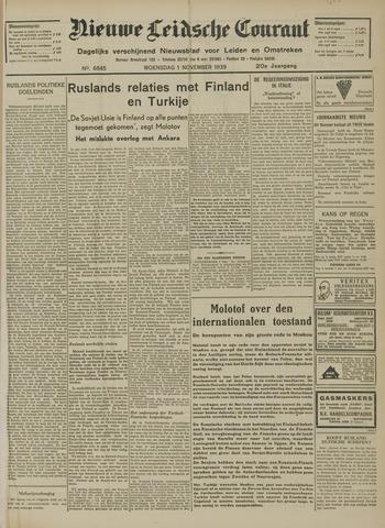 Nieuwe Leidsche Courant 1939-11-01