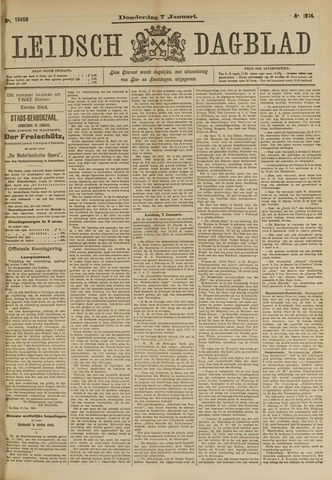 Leidsch Dagblad 1904-01-07