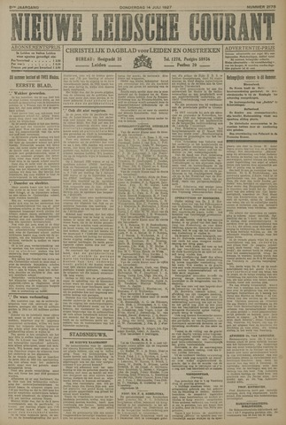Nieuwe Leidsche Courant 1927-07-14
