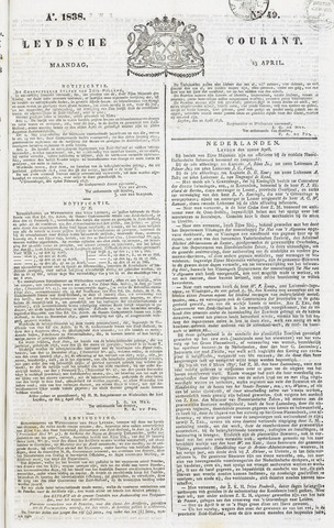 Leydse Courant 1838-04-23