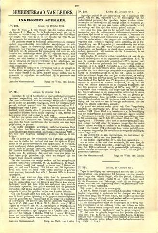 Handelingen van de Raad 1914-10-15