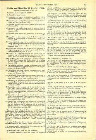 Handelingen van de Raad 1921-10-10