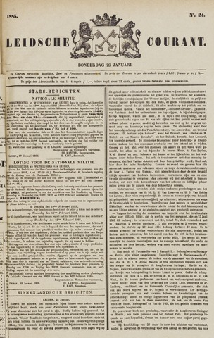 Leydse Courant 1885-01-29