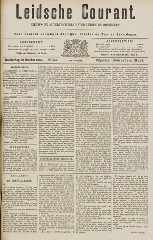 Leydse Courant 1885-10-22